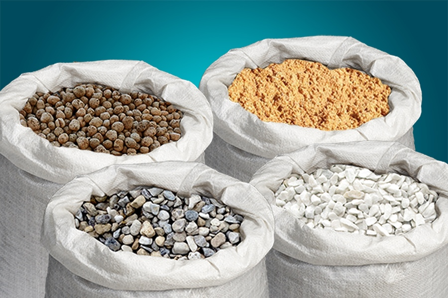 песок керамзит