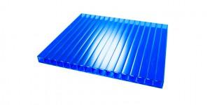 Сотовый поликарбонат синий скидка 10%